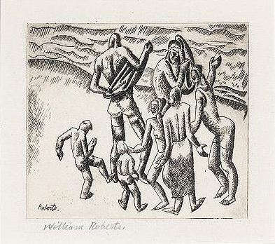 Bathers (etching)
