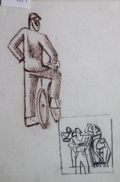 Boy on a Bicycle and Going to Swim -- study