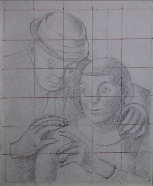 The Artist and His Wife -- study