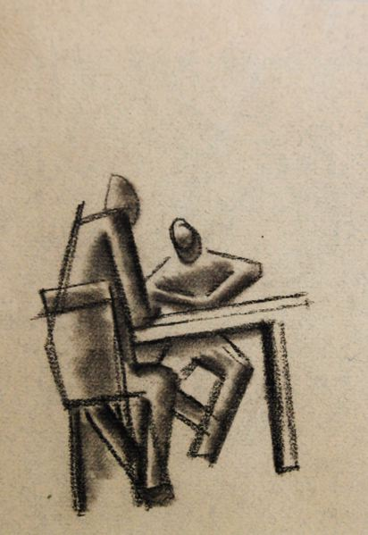 Two Figures at a Table