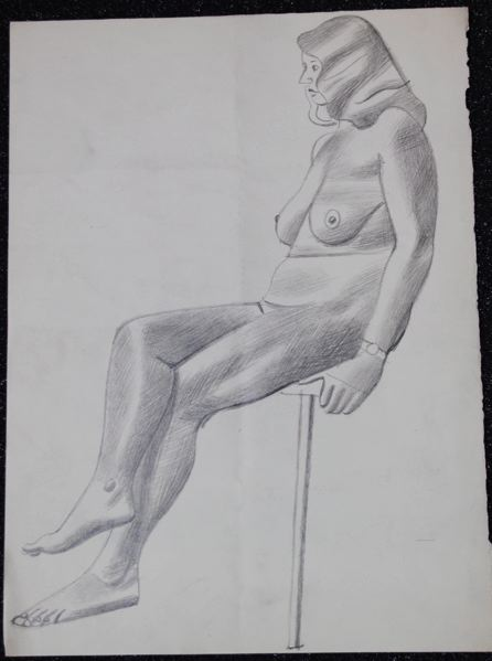 Female Life Study, Sitting