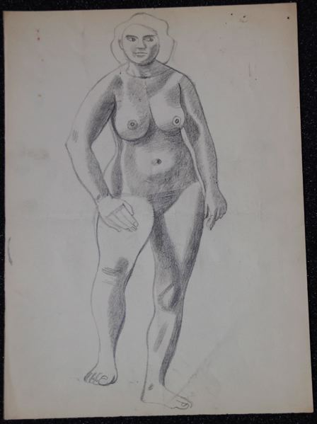 Female Life Study, Standing