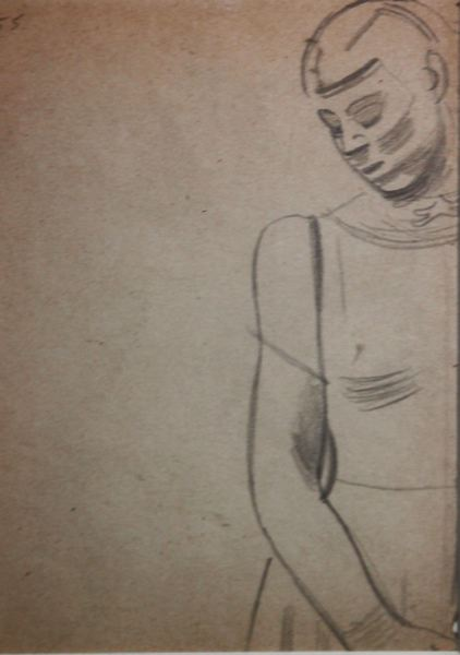 Fragment of Standing Female Life Study