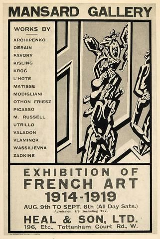 Poster for the Exhibition of French Art 1914--1919