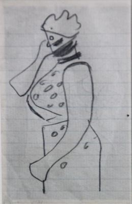 Woman with Spotted Dress