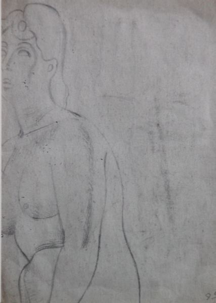 Fragment of a Female Nude Life Study